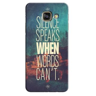 SILENCE SPEAKS BACK COVER FOR SAMSUNG J7 PRIME SM-G10F