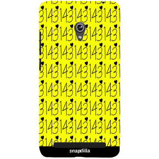 Snapdilla Love Numbers Trendy Modern Pattern Latest Cute Looking Simple Smartphone Case For Asus Zenfone 6 A600CG