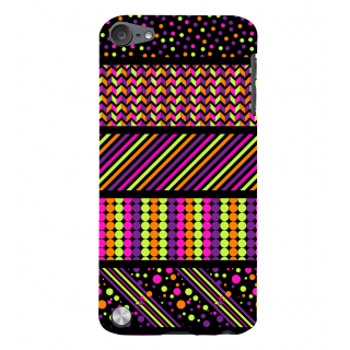 Snapdilla Artistic Multi Color Superb Looking Colorful Pattern Good Smartphone Case For Apple IPod Touch 5