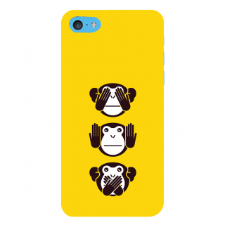 Snapdilla Modern Clip Art Inspirational Crazy  3 Monkeys Message Simple Best Designer Case For Apple IPod Touch 6