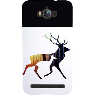 Snapdilla Modern  Clipart Animated Deer Black  White Stylish Mobile Cover For Asus Zenfone Max ZC550KL :: Asus Zenfone Max ZC550KL 2016 :: Asus Zenfone Max ZC550KL 6A076IN