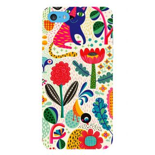 Snapdilla Modern Clipart Colorful  Floral Painting Animated 3D Print Cover For Apple IPod Touch 6