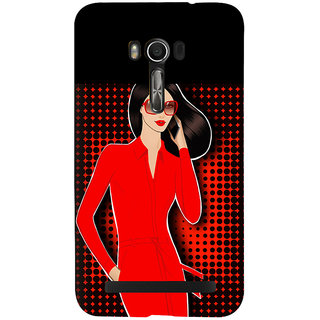 Snapdilla Colorful Pattern Superb Looking Red Hot Sexy Modern Girl Mobile Case For Asus Zenfone Go ZC500TG