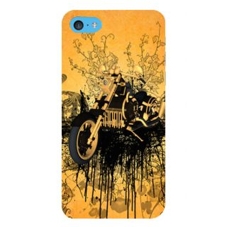 Snapdilla Artistic Yellow Background Modern Graffiti Art Bike Model Mobile Case For Apple IPod Touch 6