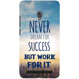 Snapdilla Awesome Life Quote On Success Theme Perfect Mobile Pouch For Asus Zenfone 6 A600CG