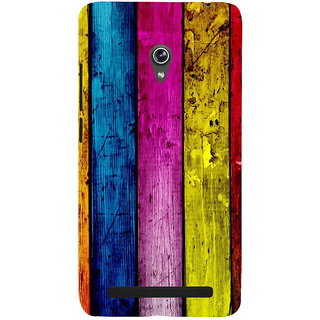 Snapdilla Artistic Rugged Colourful Wood Bar Stripes Pattern 3D Print Cover For Asus Zenfone 6 A600CG