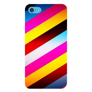 Snapdilla Cross-Hatched Colourful Multi Color Stripes Pattern Classic Different Mobile Pouch For Apple IPod Touch 6