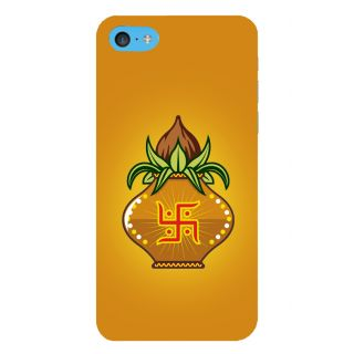 Snapdilla Yellow Background Spiritual Hindu Swastik Kalasam Symbol Traditional Cell Cover For Apple IPod Touch 6
