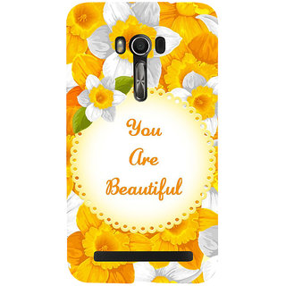 Snapdilla Yellow Flowers Background You Are Beautiful Quote Painting Mobile Case For Asus Zenfone Go ZC500TG