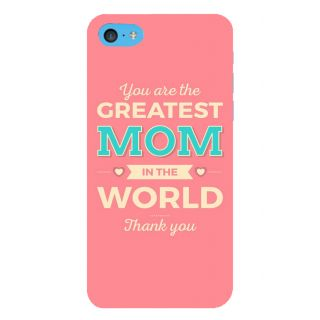 Snapdilla Pink Background Greatest Mom In The World Best Mother Quote 3D Print Cover For Apple IPod Touch 6