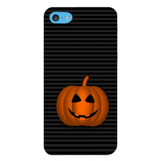 Snapdilla Black Stripes Background Crazy Halloween Pumpkin Radium Look Mobile Case For Apple IPod Touch 6