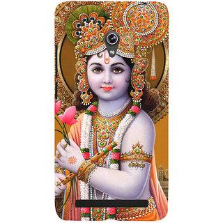 Snapdilla Hindu Religious Lord Sri Krishna With Lotus Gokul Krishna Back Cover For Asus Zenfone 6 A600CG
