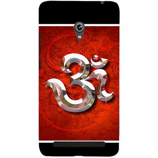 Snapdilla Black  Red Color Hindu Devotional Omkar Symbol Religious Smartphone Case For Asus Zenfone 6 A600CG