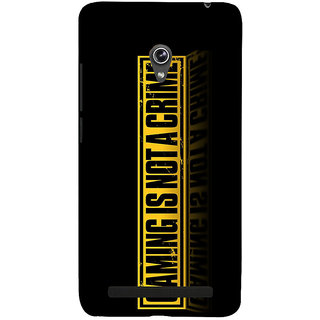Snapdilla Black Background Gaming Is Not A Crime Quote Special Designer Case For Asus Zenfone 6 A600CG