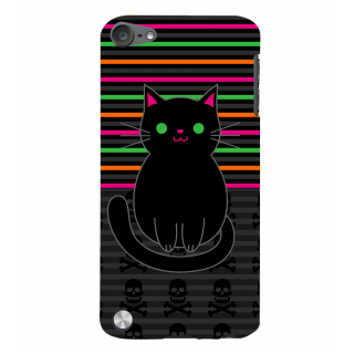Snapdilla Funky Pattern Good Looking Cute Black Cat Impressive Simple Superb Mobile Cover For Apple IPod Touch 5