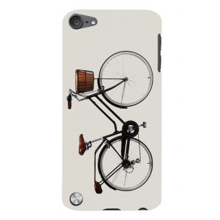 Snapdilla Simple White Color Artistic Modern Art Bicycle Girly  Simple Designer Case For Apple IPod Touch 5