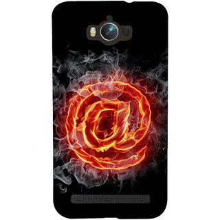 Snapdilla Artistic Animated Burning @ Sign Black Background Simple Cell Cover For Asus Zenfone Max ZC550KL :: Asus Zenfone Max ZC550KL 2016 :: Asus Zenfone Max ZC550KL 6A076IN