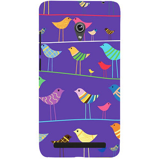 Snapdilla Violet Color Background Artistic Birds Pattern Girly 3D Print Cover For Asus Zenfone 6 A600CG