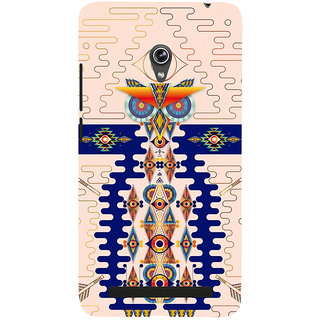 Snapdilla Awesome Different Pattern Light Background Classic Owl 3D Print Cover For Asus Zenfone 6 A600CG