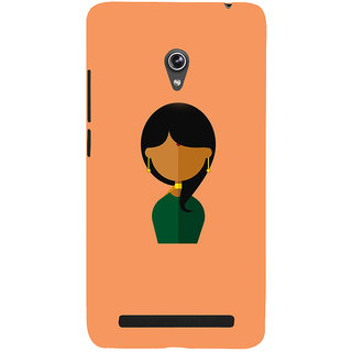 Snapdilla Artistic Indian Traditional Pretty Woman Colorful 3D Print Cover For Asus Zenfone 6 A600CG