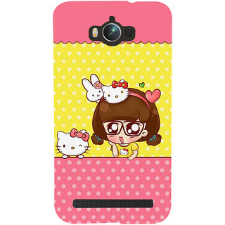 Snapdilla Awesome Funny Animated Clipart Hello Kitty Cartoon Cell Cover For Asus Zenfone Max ZC550KL :: Asus Zenfone Max ZC550KL 2016 :: Asus Zenfone Max ZC550KL 6A076IN