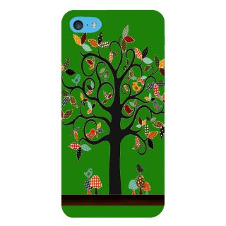 Snapdilla Green Color Background Artistic Clipart Good Looking Tree With Birds Cell Cover For Apple IPod Touch 6