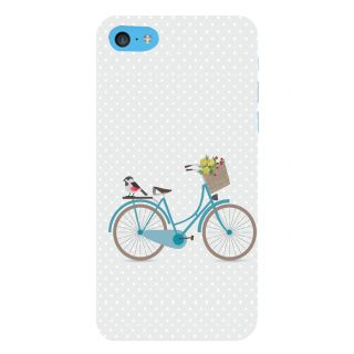 Snapdilla White Color Background Lady Bird Bicycle Flower Bouquet Girly Smartphone Case For Apple IPod Touch 6