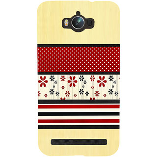 Snapdilla Light Background Red Floral Rangoli Pattern Simple Looking 3D Print Cover For Asus Zenfone Max ZC550KL :: Asus Zenfone Max ZC550KL 2016 :: Asus Zenfone Max ZC550KL 6A076IN