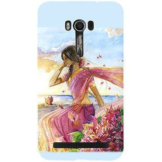 Snapdilla Artistic Lovely Girl Impressive Modernart Abstract Painting Mobile Pouch For Asus Zenfone Go ZC500TG