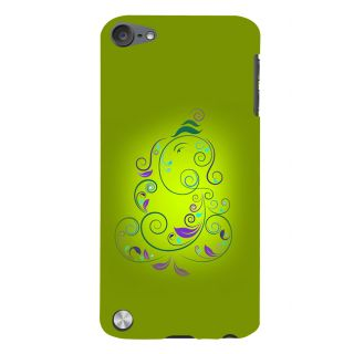Snapdilla Awesome Modern Art Green Color Lord Ganesha Vinayaka Cell Cover For Apple IPod Touch 5