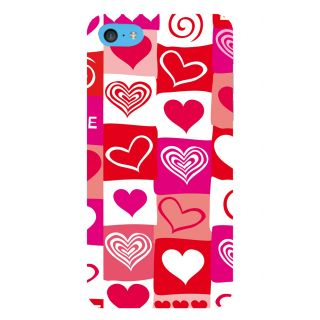 Snapdilla Multi Colour Different Love Hearts Simple Cool Good Looking Pretty Mobile Cover For Apple IPod Touch 6