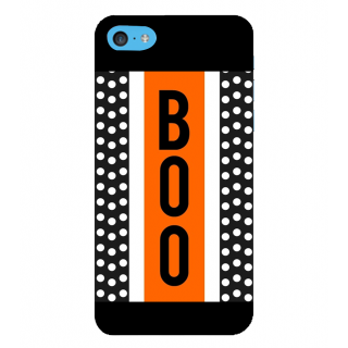 Snapdilla Black Background Dots Pattern Boo Quote Simple Good Looking Mobile Case For Apple IPod Touch 6