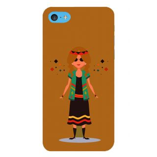 Snapdilla Stylish Artistic Cute Good Looking Small Animated Girl Painting 3D Print Cover For Apple IPod Touch 6