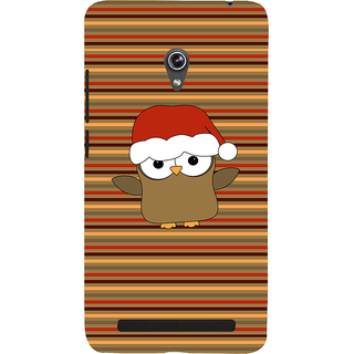 Snapdilla Cute Funny Animated Happy Merry Christmas Owl Santa Xmas Gift 3D Print Cover For Asus Zenfone 6 A600CG