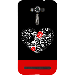 Snapdilla Lovely Black Background I Love You Quote Heart Shaped Smartphone Case For Asus Zenfone 2 Laser ZE601KL
