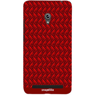 Snapdilla Modern Art Red Texture Stripes Cool Looking Sober Trendy Cute Designer Case For Asus Zenfone 6 A600CG