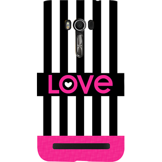 Snapdilla Black And White Beautful Stripes Lovely Pink Best Love Quote Girly 3D Print Cover For Asus Zenfone Go ZC500TG