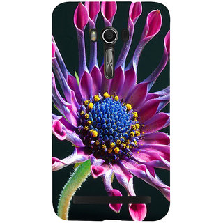 Snapdilla Artistic Beautiful Pink Flower Modern Art Stylish Artistic Good Looking Pretty Floral Mobile Pouch For Asus Zenfone Go ZC500TG