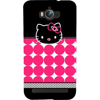 Snapdilla Good Looking Pink Balls Pattern Cute Funny Hello Kitty Cartoon Simple Superb Girly Mobile Case For Asus Zenfone Max ZC550KL :: Asus Zenfone Max ZC550KL 2016 :: Asus Zenfone Max ZC550KL 6A076IN