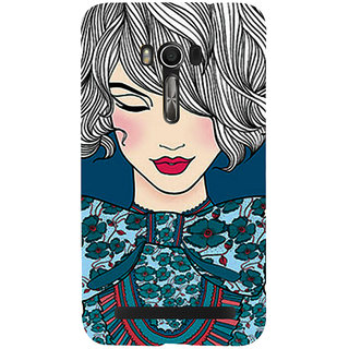 Snapdilla Good Looking Cute Pretty Girl Artistic ClipArt Back Cover For Asus Zenfone Go ZC500TG