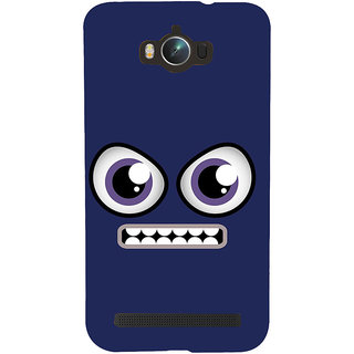 Snapdilla Funky Clip Art Blue Background Funny Face Creative Animated Design Mobile Case For Asus Zenfone Max ZC550KL :: Asus Zenfone Max ZC550KL 2016 :: Asus Zenfone Max ZC550KL 6A076IN