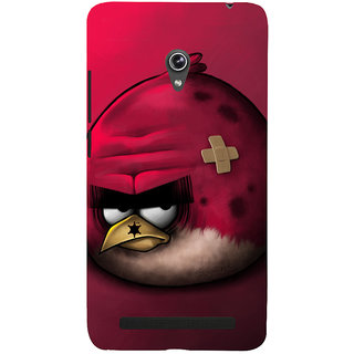 Snapdilla Creative Red Background Animated Angry Bird Simple Crazy Mobile Cover For Asus Zenfone 6 A600CG