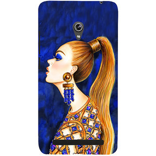 Snapdilla Blue Background Animated Fashion Girl Painting Tendy Phone Case For Asus Zenfone 6 A600CG