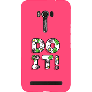 Snapdilla Pink Color Background Floral Do It Quote Simple Girly Mobile Pouch For Asus Zenfone Go ZC500TG