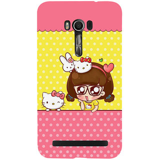 Snapdilla Awesome Funny Animated Clipart Hello Kitty Cartoon Cell Cover For Asus Zenfone Go ZC500TG
