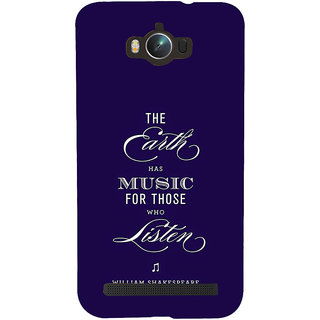 Snapdilla Blue Background Shakespeare Earth  Music Quote Phone Case For Asus Zenfone Max ZC550KL :: Asus Zenfone Max ZC550KL 2016 :: Asus Zenfone Max ZC550KL 6A076IN