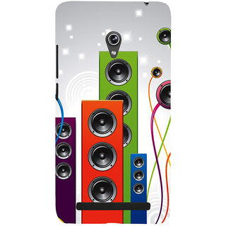 Snapdilla Clipart I Love Dj Party Hip Hop Music Beat Speaker Back Cover For Asus Zenfone 6 A600CG
