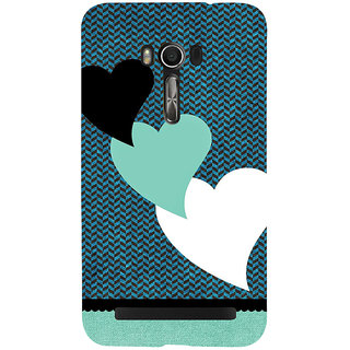 Snapdilla Simple Pattern Blue Background Lovely Hearts Classic Best Mobile Cover For Asus Zenfone Go ZC500TG