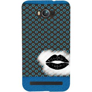 Snapdilla Black Color Background Simple Dot Pattern Crazy Lips Wonderful Designer Case For Asus Zenfone Max ZC550KL :: Asus Zenfone Max ZC550KL 2016 :: Asus Zenfone Max ZC550KL 6A076IN