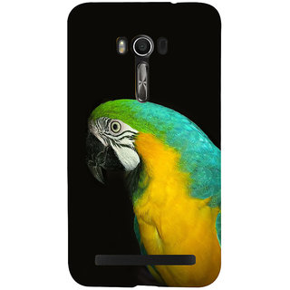 Snapdilla Black Background Colorful Macaw Parrot Wild Life Hd Photo Mobile Cover For Asus Zenfone Go ZC500TG